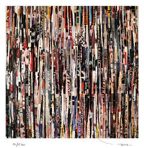 TABLEAU ART MODERNE CONTEMPORAIN Down town..  edition limitee 250 ex TEHOS