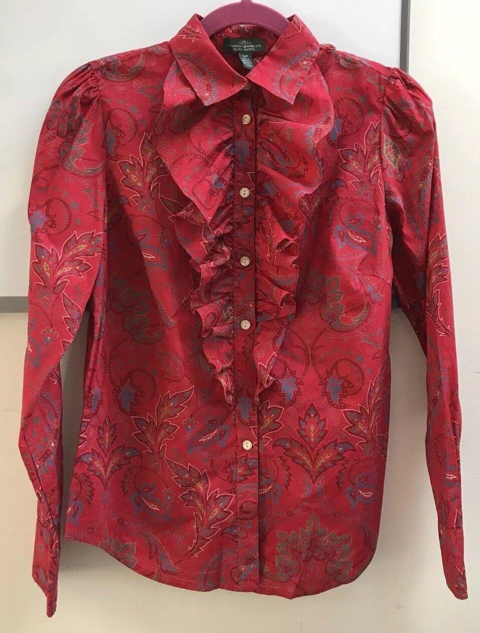 Ralph Lauren Paisley Dress Shirt Größe S