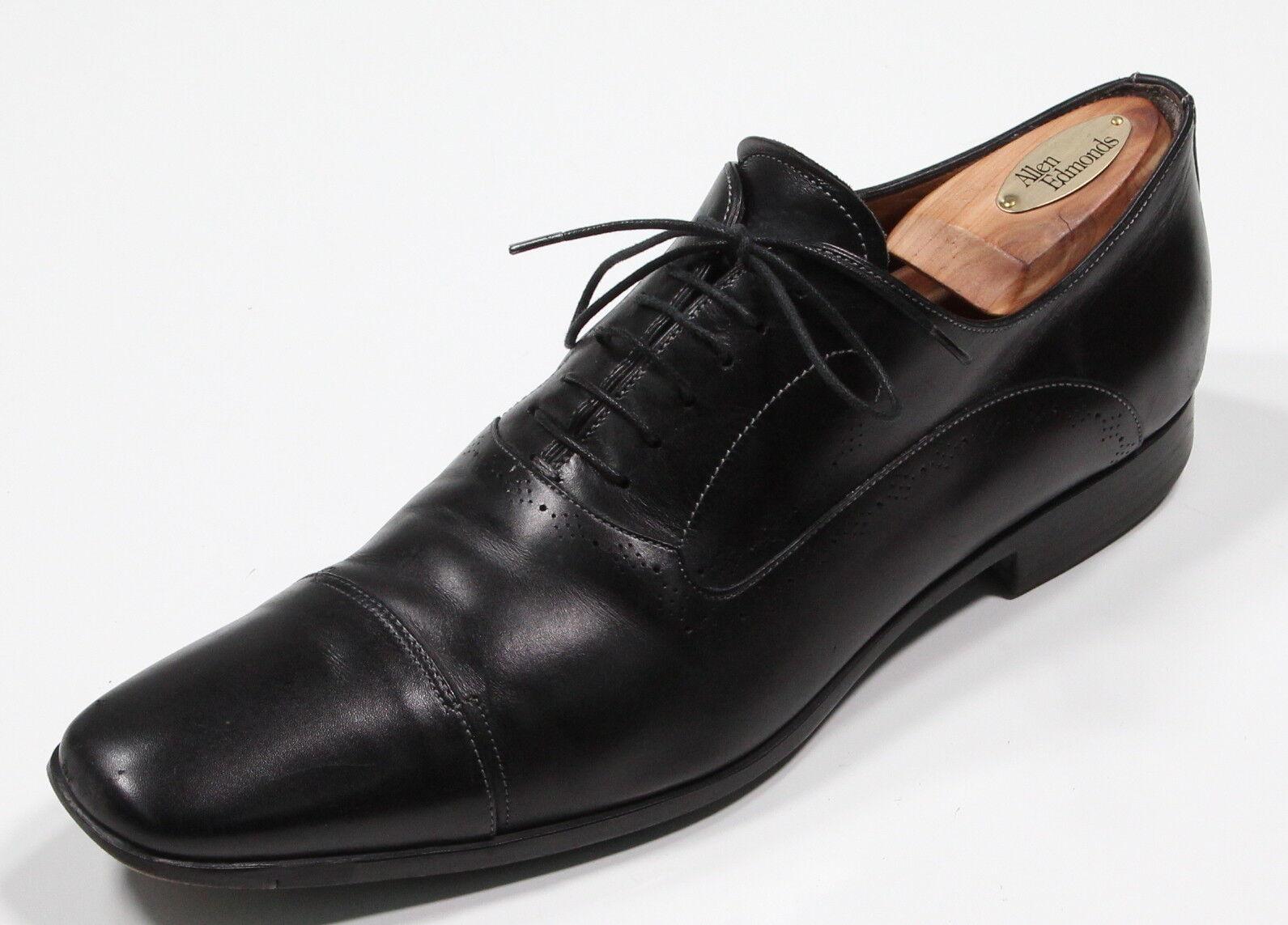 Santoni black ' Danby ' Cordones Pitón Vestido Oxford Us 10 D