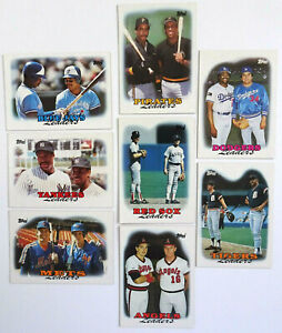 Topps Team Leaders Baseball Cards Lot of 8 Tigers Dodgers Angels Yankees 1987