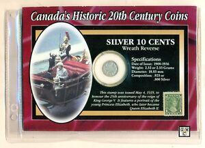 Canada-039-s-Historic-20th-Century-coin-amp-stamp-set-1917-10ct-coin-amp-1935-1ct-stamp