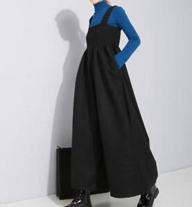 larges Femmes combinaison solide pleine longueur Bib en à jambes Pants en Pantalon plein air Casual vrac x1vqrwY1