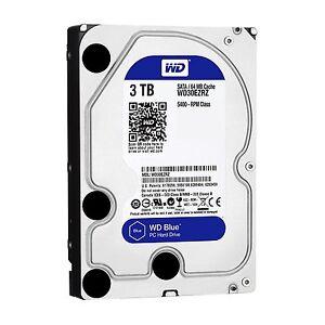 HARD DISK 3,5 WESTERN DIGITAL CAVIAR BLU 3TB SATA3 64MB 3000GB WD30EZRZ 5400rpm