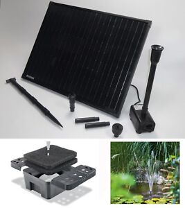 50 w solar teich gartenteich pumpe filter material bachlauf springbrunnen system ebay. Black Bedroom Furniture Sets. Home Design Ideas