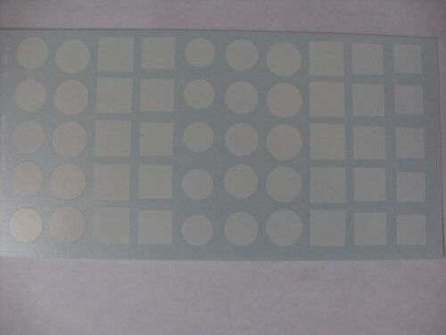 DECALQUE decals decalcomanie round and square for door blank 1//43 rally