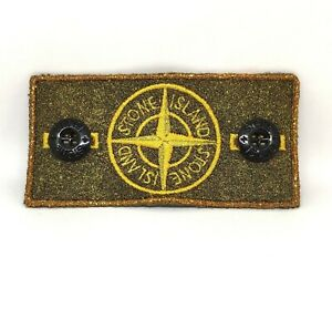 GOLD-Frosted-Bespoke-Customised-Stone-Island-Badge-made-from-original-WITH-TRIM