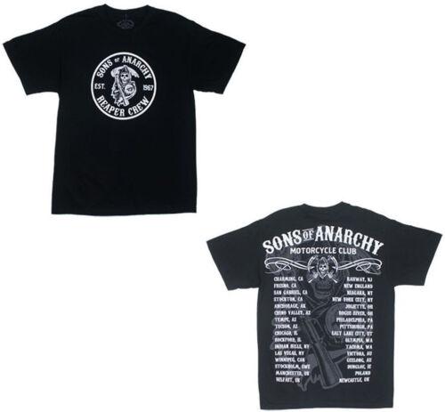 Authentique SONS OF ANARCHY Villes Faucheuse Soa Samcro T-Shirt S M L XL 2XL 3XL