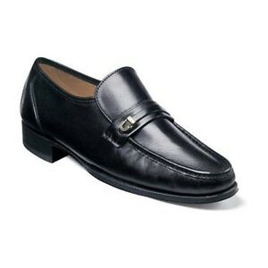 Men-039-s-Shoes-Florsheim-Como-Moc-Toe-Bit-Loafer-Black-Leather-17116-01