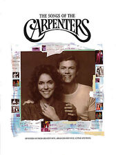 The Songs Of The Carpenters Learn to Play Piano Vocal & Guitar Music Book
