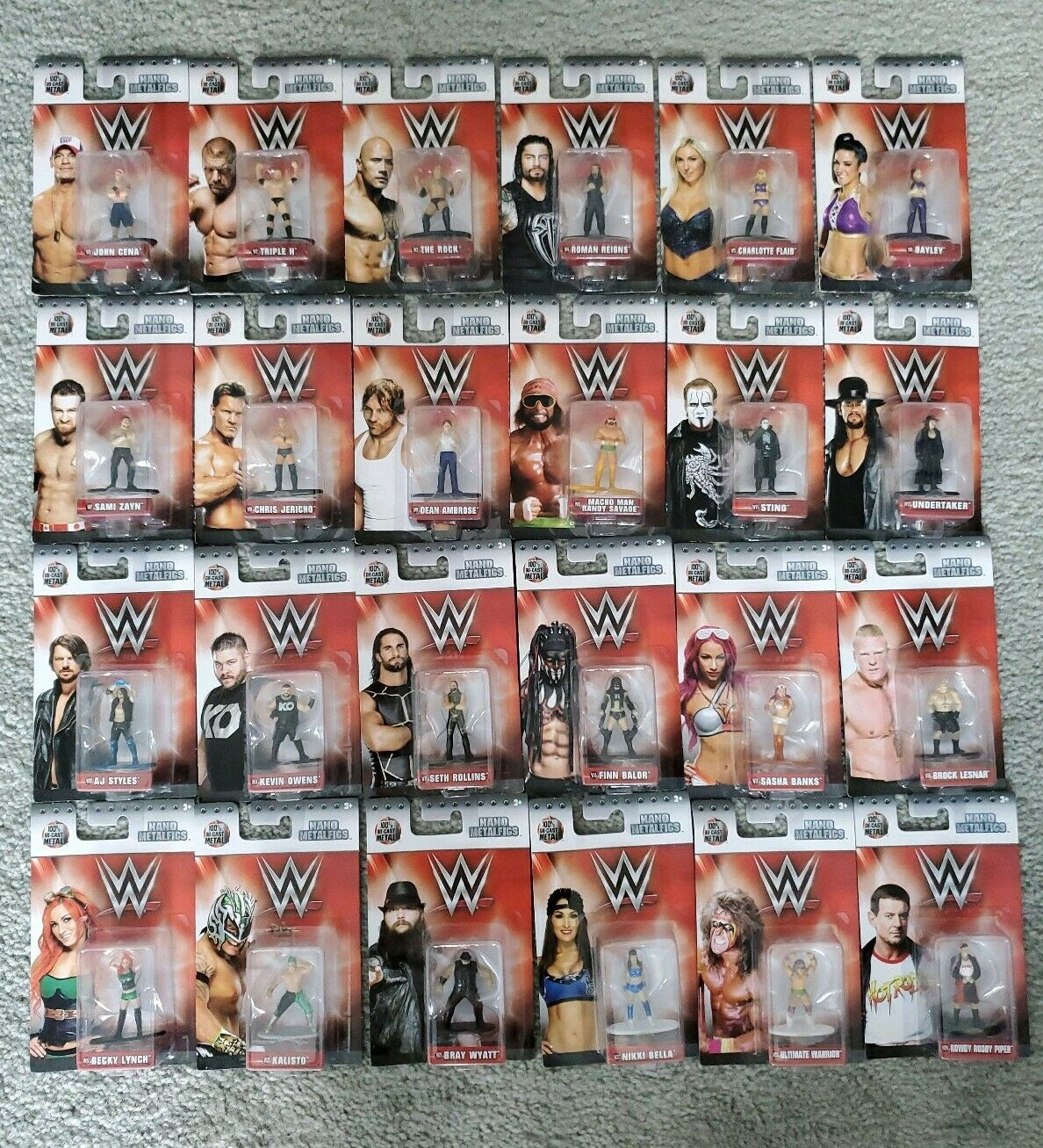 Jada Metalfig Nano WWE Complete set of Individual Figures