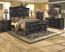 Ashley Coal Creek B175 King Size Mansion Bedroom Set 6pcs in Dark Brown