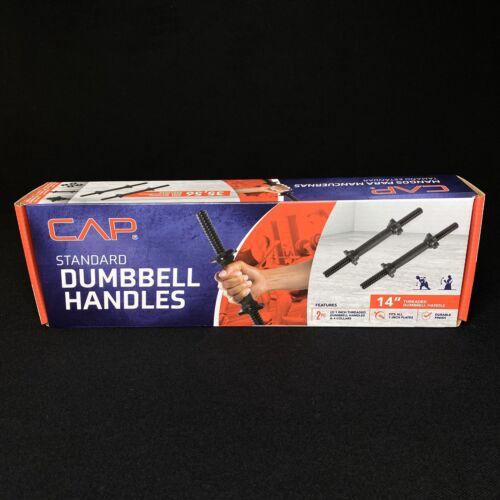 """Cap Standard Threaded Dumbbell Weight Handles 14/"""" Set of 2"""