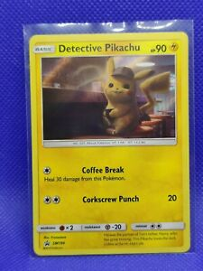 Detective-Pikachu-Holo-EX-NM-Black-Star-Movie-Promo-SM190-Pokemon