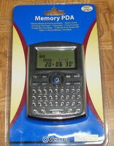 Vextra Memory PDA Phone Numbers, Alarm Clock, Currency Converter 946260 (BIN 6)