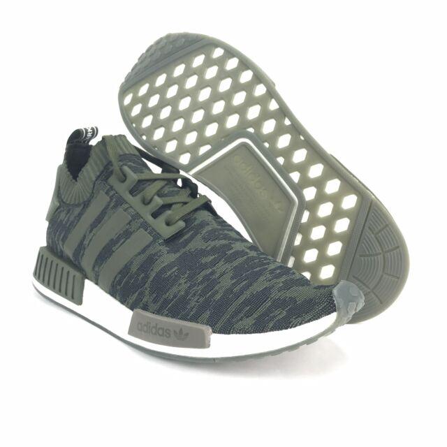 cb703ac22e adidas Men's NMD_R1 PK Primeknit Night Cargo Hi Res Camo Green Shoes Size  12.5