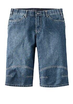 Schietto Nuovo Uomo Corti Jeans Bermude Elasticizzato Bauchschnitt Pantaloni Blu Taglie Vivace E Grande Nello Stile