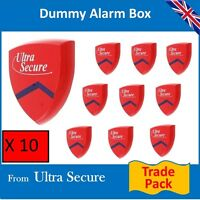 10 X Decoy Alarm Sirens (dummy) & Flashing Led's Trade Pack