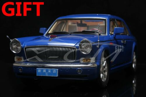 Car Model 1:18 Hongqi CA7600 News Car C HAS PAINT RASHES GIFT!!!!!! Blue