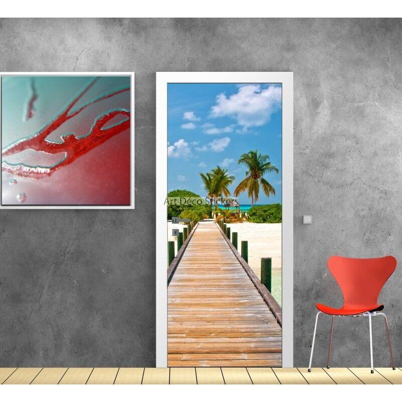 Aufkleber Tür Deko Steg Maldives Ref 705 704