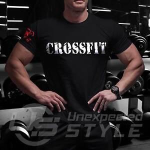 La imagen se está cargando C8-Crossfit-Camiseta-de-Gimnasio-Deporte-Fuerza- Wod- cce681f9edf8f
