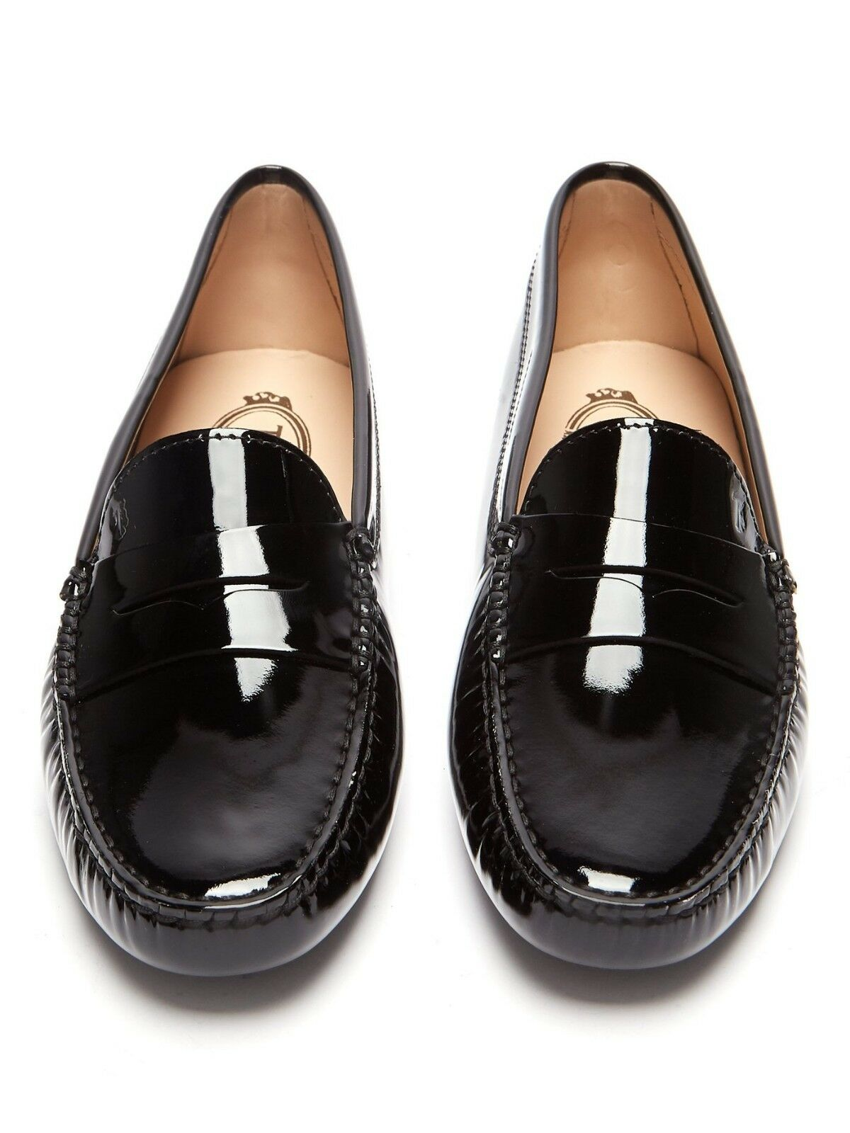 Tod's    Gommino Patent Leather Penny Loafers Driving shoes Black 9.5 40  425 c87c49