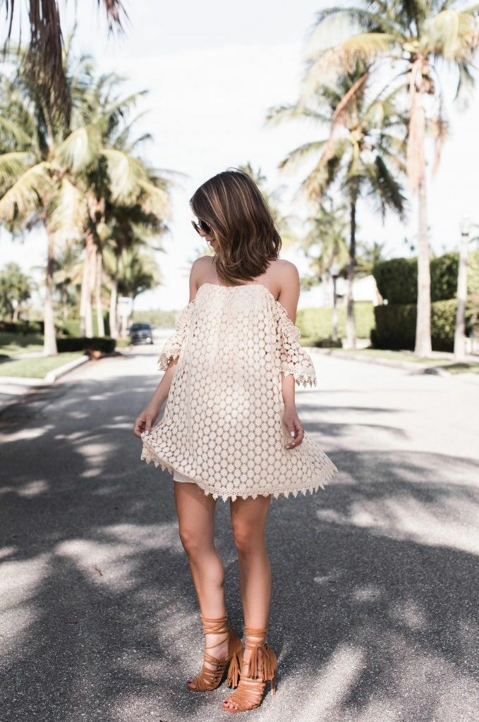 Tulapink Amelia Off-the-Shoulder Lace Dress. Stone cold fox style.