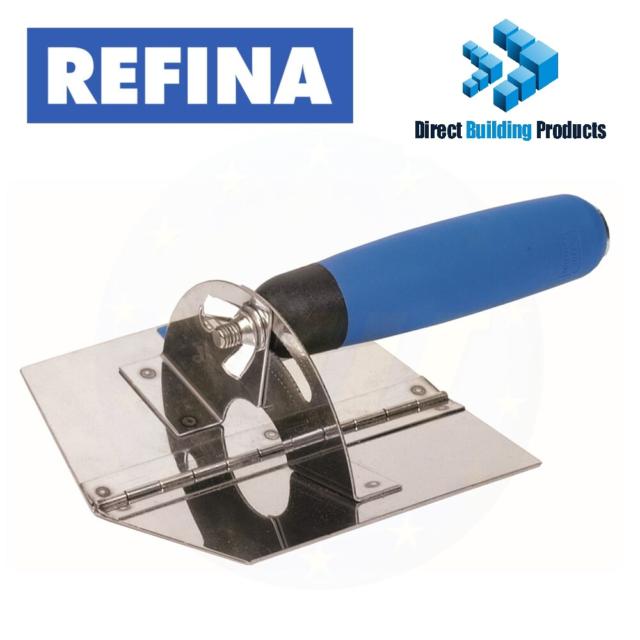 REFINA 640010 Stainless Steel Adjustable Exact Angle Inside Corner Trowel Blade