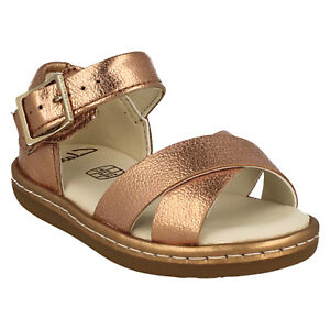 GIRLS CLARKS SKYLARK PURE T BUCKLE TODDLER OPEN TOE CASUAL SUMMER SANDALS SIZE