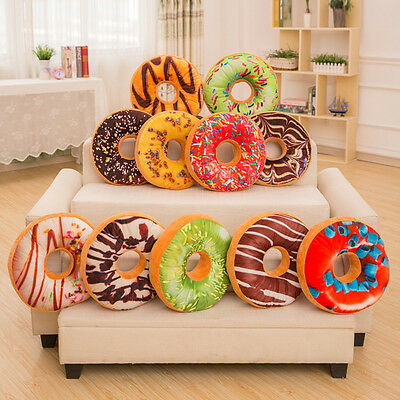 New 12 Styles Doughnut Donut Shaped Ring Plush Soft Novelty Style Cushion Pillow
