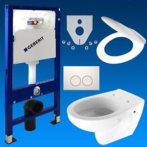 Geberit-Duofix-Vorwandelement-Wand-Tiefspuel-WC-Delta-21-WC-Sitz-WC-Set