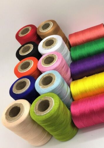 15 Vibrant Spools Sewing Machine Silk Thread embroidery BROTHER JANOME GUTERMAN