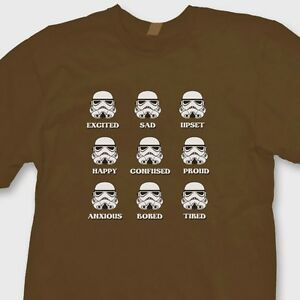 1f6a671a17 STORMTROOPER EMOTIONS Star Wars Funny T-shirt Darth Vader Tee Shirt ...