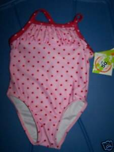 73e5dcf45f Size 12 Months Penelope Mack Pink Red Polka Dots Swimsuit Bathing ...