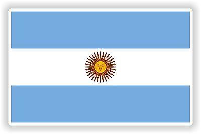 "ARGENTINA Flag sticker 4/""x2.6/"" 10x6,5cm bumper decal car auto bike laptop"