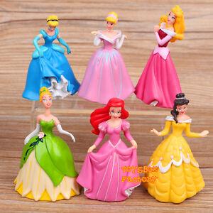 6x-Disney-Princess-Cinderella-Aurora-Belle-Ariel-Doll-Toy-Cake-Topper-Figurine