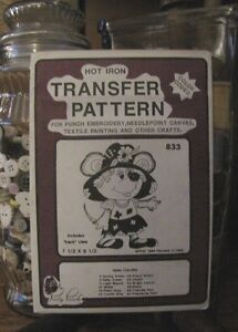 Pretty Punch Iron Transfer Pattern Puppy #979 NOS etc Punch Embroidery
