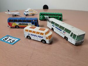 Vintage-AIRLINE-AIRPORT-travel-related-Diecast-Cars-Bundle-PAN-AM-bus-joblot