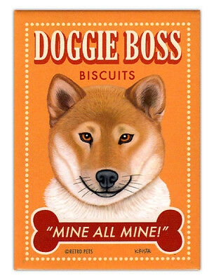 Shiba Inu Kekse Retro Hunde Kühlschrank Magnete Alte Werbung Kunst