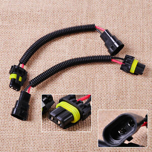 s l300 2 pcs extension wiring harness socket wire fit headlight fog light 9012 hid wiring harness at edmiracle.co