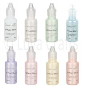Dovecraft-3D-Pearl-Effects-Pastel-Shades-Acid-Free-20ml-Choice-of-Colours