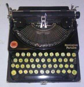 ANTIQUE OLD VINTAGE REMINGTON PORTABLE TYPEWRITER MODEL NO. 2 NP88684 CASE BLACK