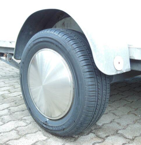 """2x Radkappe Radzierblende 14/"""" Zoll Wohnanhänger Anhänger Moon Caps PKW-Anhänger"""