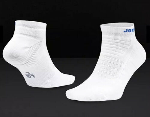 NIKE AIR JORDAN ULTIMATE FLIGHT 2.0 ANKLE BASKETBALL SOCKS WHITE UK 5-8