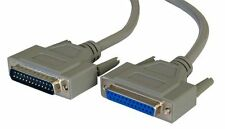 2m Paralelo Cable Impresora Alargadera Macho 2 Hembra DB25 25 Pines Serial RS232