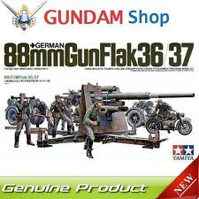 TAMIYA German 88mm Gun Flak 36/37 1/35 Military Miniature Series No. 35017 JAPAN