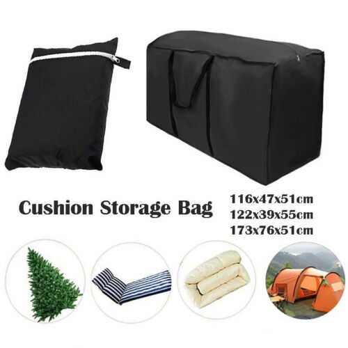 Waterproof Large Outdoor Garden Furniture Cushion Storage Bag Case With Zipped