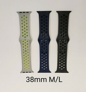 Apple Used replacement Nike Sports Silicone Bands, 38mm M/L, Various Colors
