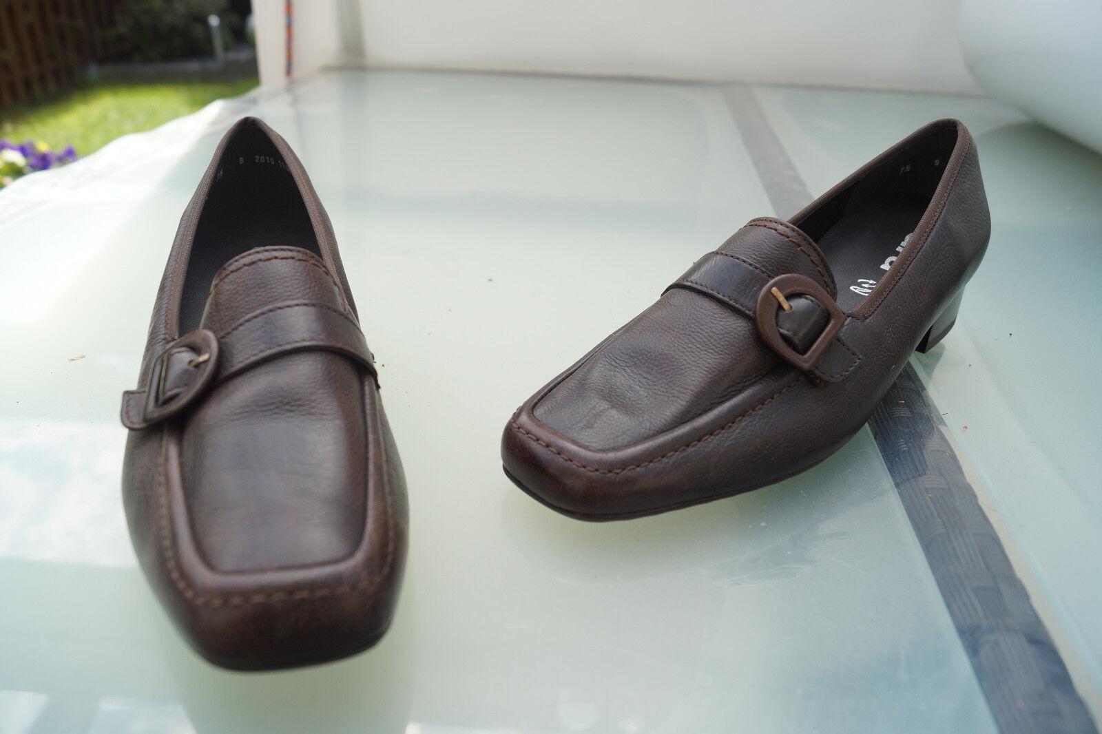 ARA Damen Comfort Schuhe Einlagen Pumps Leder bequem schick Gr.7,5H 41 braun NEU