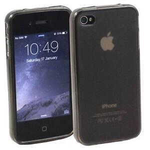GRAU-APPLE-iPHONE-4-4S-WEICH-SILIKON-GEL-GUMMI-HULLE-MATTE-RUCKSEITE-TPU-M23