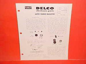DELCO AUTO RADIO  TROUBLESHOOTING BULLETINS 1956 Transistor Fundamentals